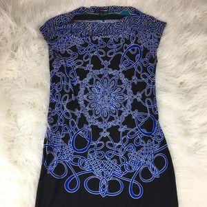 Saint Lopez West Size 10 Blue Black Dress